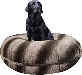 product image for BESSIE AND BARNIE Signature Frosted Glacier Luxury Extra Plush Faux Fur Bagel Pet/Dog Bed (Multiple Sizes)