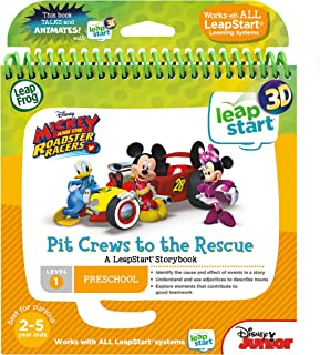Leapstart Nursery: Mickey & The Roadster Racers Pit Crews To The Rescue Story Book (3D Enhanced)