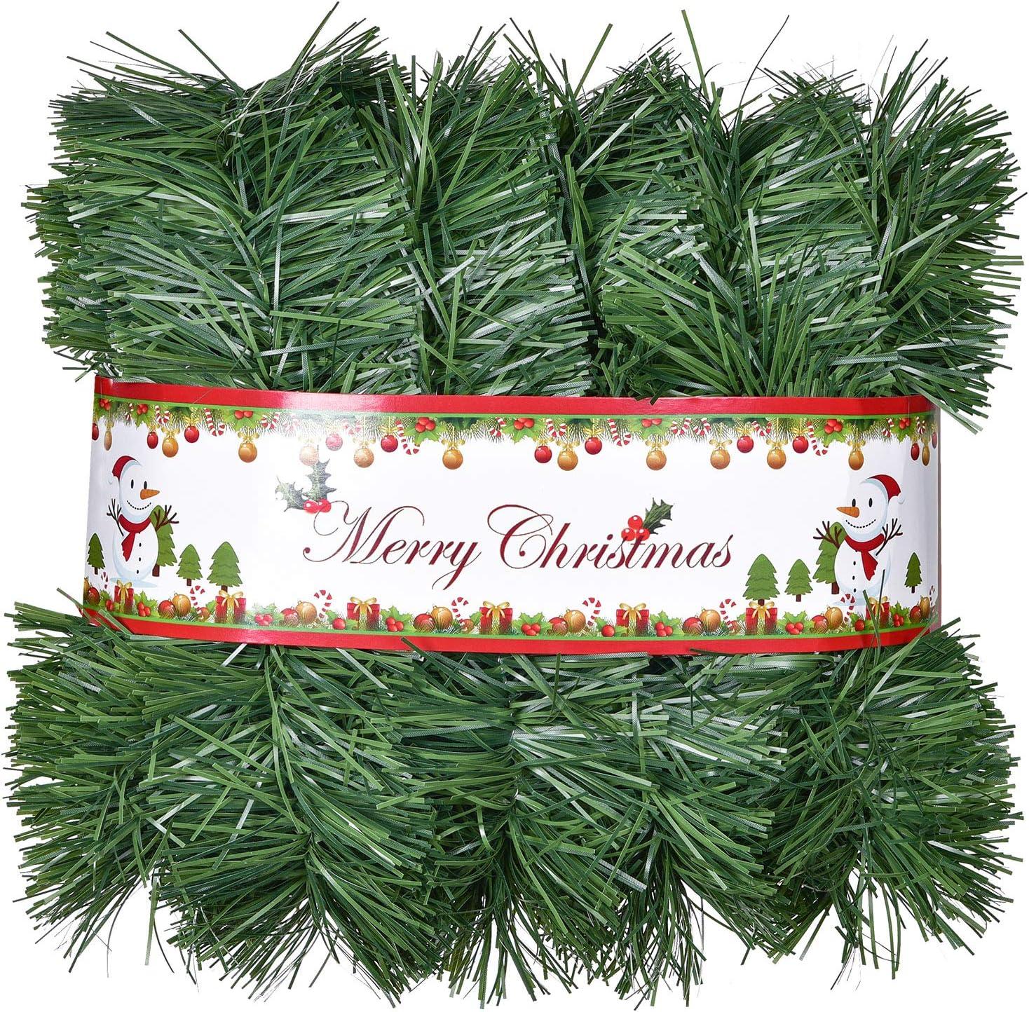 Kunststoff Gr/ün Weihnachten Kiefer Tanne Girlande Weihnachtsdeko T/ürkranz Weihnachten Garland f/ür Kamine Treppe YQing 10 Meter K/ünstliche Tannengirlande Weihnachtsgirlande