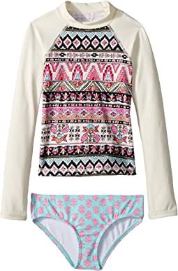 Billabong Kids Moon Tribe Long Sleeve Rashguard Set (Little Kids/Big Kids)