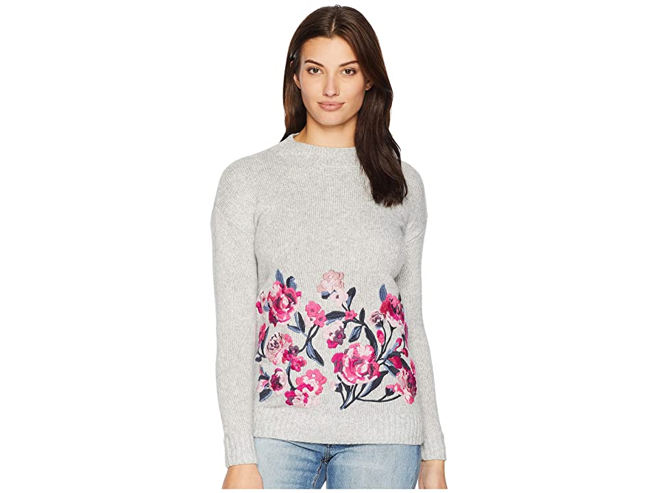 Joules Penny Embroidered Sweater (Grey Marl) Women