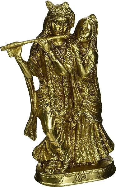 8 Beautiful Brass Sculpture Wedding Gift Radha Krishna Statue Symbol Of Love Hindu Pair God Goddess Anniversary Housewarming Lucky Gift