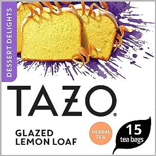 Tazo Filterbag Tea, Glazed Lemon Loaf, 15 ct, Pack of 6 (Packaging may vary)