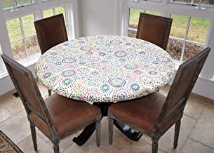 geometric oilcloth tablecloth