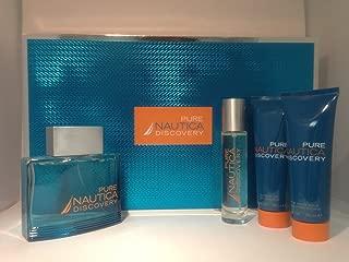 Nautica Pure Discovery By Nautica for Men 4pc Gift Set 3.4 Oz Eau De Toilette, 1.0 Oz Eau De Toilette, 2.5 Oz After Shave Balm, 2.5 Oz Shower Gel