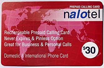 $30 » Prepaid Phone Card for Domestic & International Calls, No Pay Phone Fee, Calling Card that Never Expires.