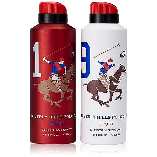 Beverly Hills Polo Club Deodorant for Men, 2x175ml