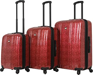 Mia Toro Unisex-adults Italy Gita Hardside Spinner Luggage 3pc Set, Red