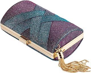 Molshine Abendhandtasche mit Farbverlauf, glitzernd, modische Umhängetasche, klassische Schultertaschen, Party-Clutch-bö...