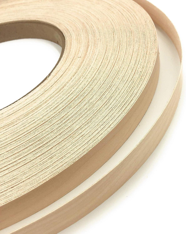 Buy Edge Supply Birch 1 Inch X 50 Ft Roll Of Plywood Edge Banding Pre Glued Real Wood Veneer Edging Flexible Veneer Edging Easy Application Iron On Edge Banding For Furniture