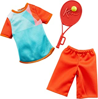 Barbie Clothes -- Career Outfits for Ken Doll, Tennis Player Uniform with Ball and Racket, Multi