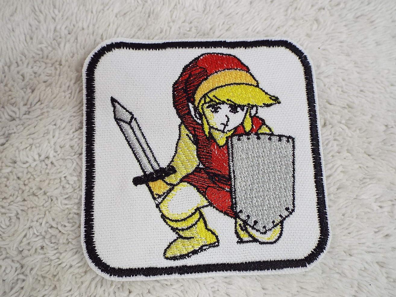 Legend of Zelda Game Red LINK Kneeling Sword Embroidered Iron-on Patch