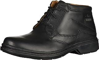 أحذية Clarks Rockie Hi للرجال برباط - أسود, (أسود), 43 EU