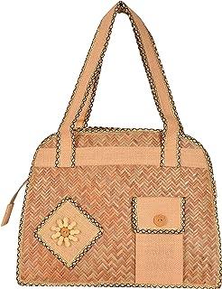 Roy Jute Handicrafts Women's Handbag (RJH 13_Beige)