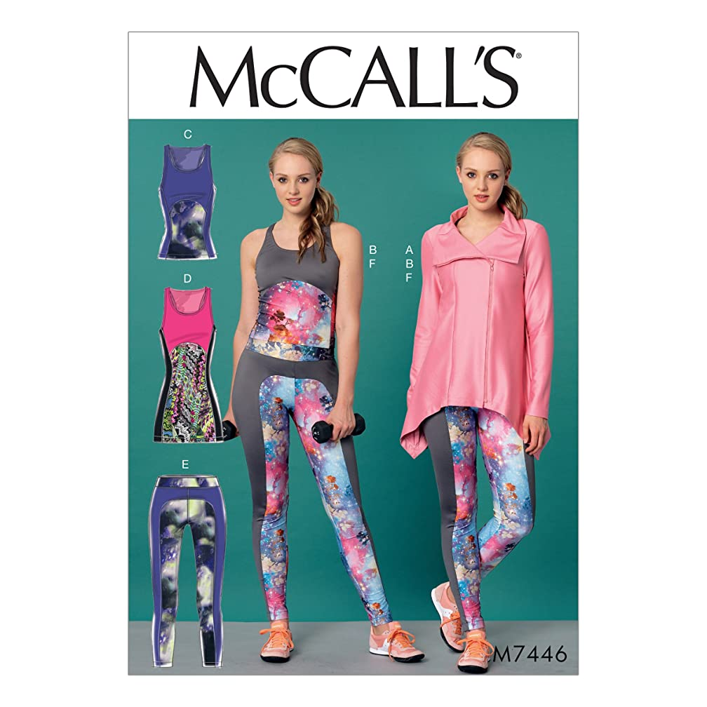 McCall's Patterns M7446E50 Misses, Seam-Detail Tank Tops, Tunic and Leggings Jacket