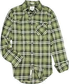 American Eagle Men's Seriously Soft Button Down Print Shirt (Medium, 9826-309)