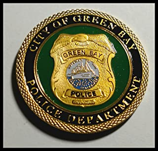 Green Bay Police Department Colorized Challenge Art Coin