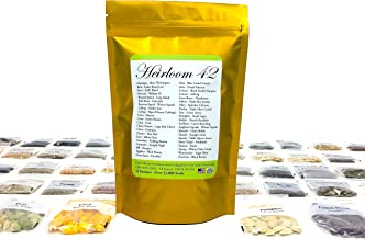 Heirloom Futures Seed Pack with 42 Varieties of Non GMO Open Pollinated Vegetable Seeds..