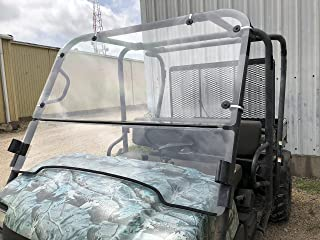 A&S AUDIO AND SHIELD DESIGNS KAWASAKI MULE 3000,3010 TRANS 4X4 FULL AND FLIP UP 3/16 POLYCARBONATE WINDSHIELD