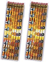 product image for Toys For Tots Pencil Set – Two 7-Packs of USA Made #2 Pencils (14 Pencils Total) with Fun Designs, perfect kid's gift, stocking stuffer or for school, home or office (Safari Animals)