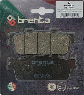 Brenta Pastillas freno organiche Moto para Daelim St 250Sector Quad, E-Ton Rxl 150Viper, SYM