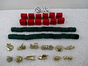 Monopoly replacement game pieces from 1998 Deluxe Edition 12 Tokens,houses ,hotels ,dices