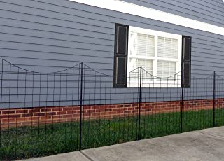 """Zippity Outdoor Products Tall Black Metal Garden Fence Kit (5 Pack), 42"""""""