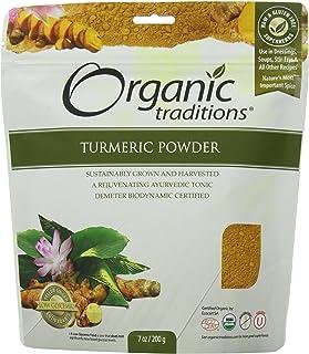 Organic Traditions Organic Powder, Turmeric, 7 Ounce (Pack of 12)