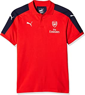 PUMA 2016-2017 Arsenal Casual Performance Polo Football Soccer T-Shirt Jersey (Red) - Kids