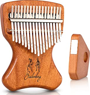 Zaidenberg Kalimba 17 Key Thumb Piano With Unique Design and Exclusive Magnetic Stand | Authentic African Mbira Made of Quality Solid Mahogany Wood | An Extraordinary Musical Instrument for the Soul