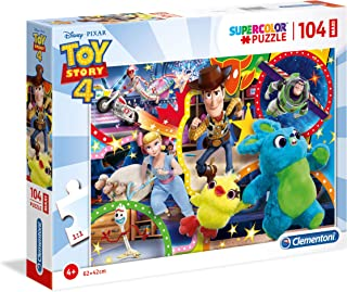 Clementoni- Puzzle 104 Piezas Maxi Toy Story 4, Multicolor (23740.1)