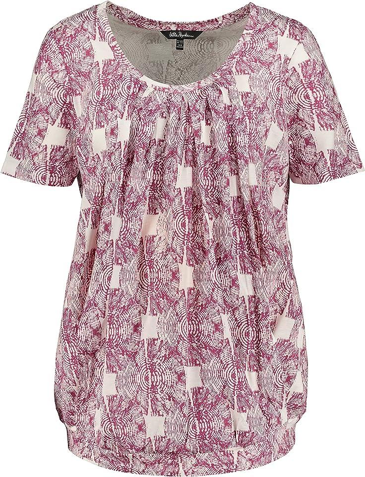 Ulla Popken Damen große Größen T-Shirt mit Still-Funktion 794936