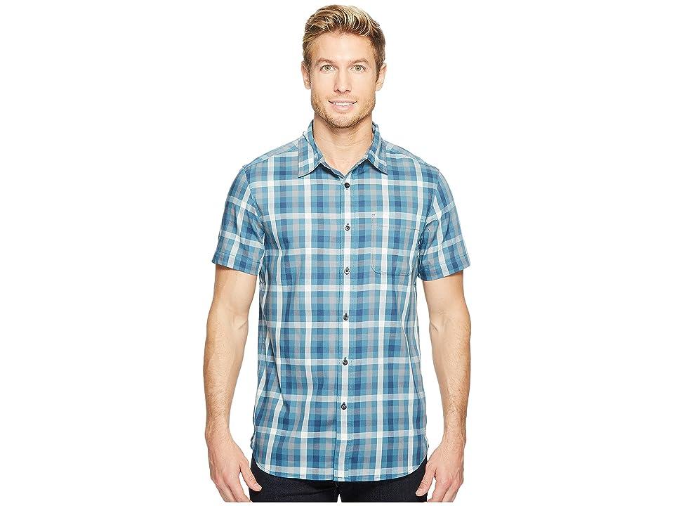 The North Face Short Sleeve Hayden Pass Shirt (Diesel Blue Plaid) Men
