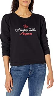 Hanes Women's Ugly Christmas Sweater-Naughty Nice Depends