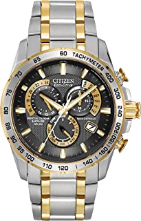 b4e83d2feed07b Citizen Men's Eco-Drive Chronograph Watch AT4004-52E with a Black Dial and a