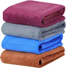 Yellow Weaves Microfiber Face Towel 250 GSM (Set of 4, Multicolour)