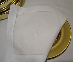 Integrity Designs White Linen Altar Cloth White Cross Embroidery