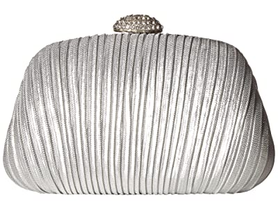 Jessica McClintock Brianna Pleated Soft Shine (Silver) Handbags