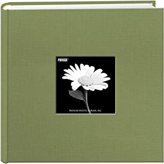 Pioneer 200 Pocket Fabric Frame Cover Photo Albums, Sage Green