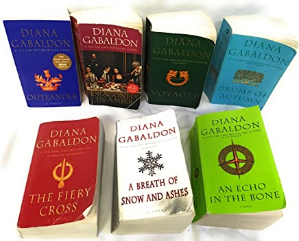 The Outlander Series 7-Book Paperback Set Diana Gabaldon: Outlander, Dragonfly in Amber, Voyager, Drums of Autumn, The Fiery Cross, A Breath of Snow and Ashes, An Echo in the Bone