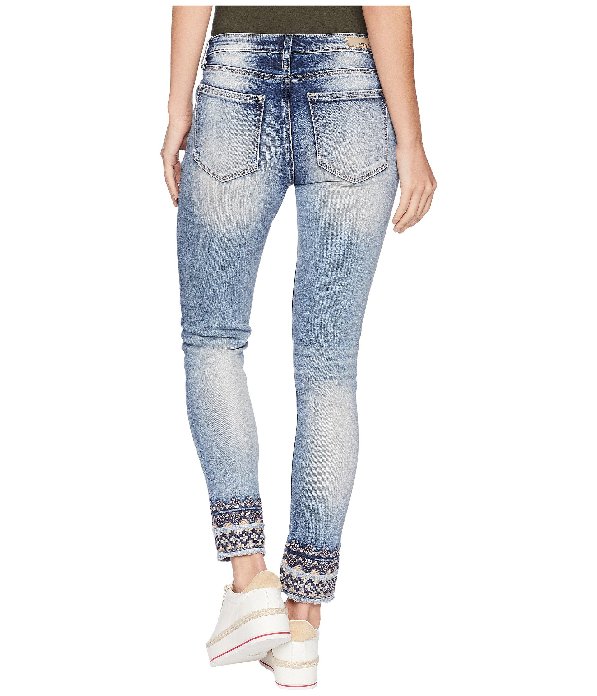 Ankle rise W Skinny Me In Embroidery Medium Mid Miss Blue tHFwBq