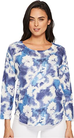 Nally & Millie - Blue Tie-Dye Top