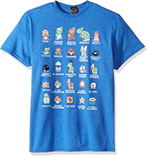 nintendo 男式 Pixel CAST T 恤