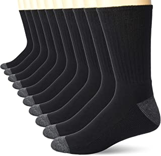 Men's 10-Pack Cotton Half Cushioned Crew Socks