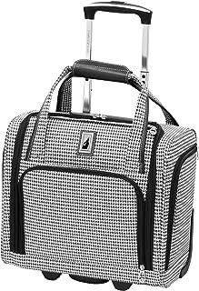Cambridge Ultra-Lightweight 15inch 2-Wheel Under The Seat Bag, Black/White Houndstooth