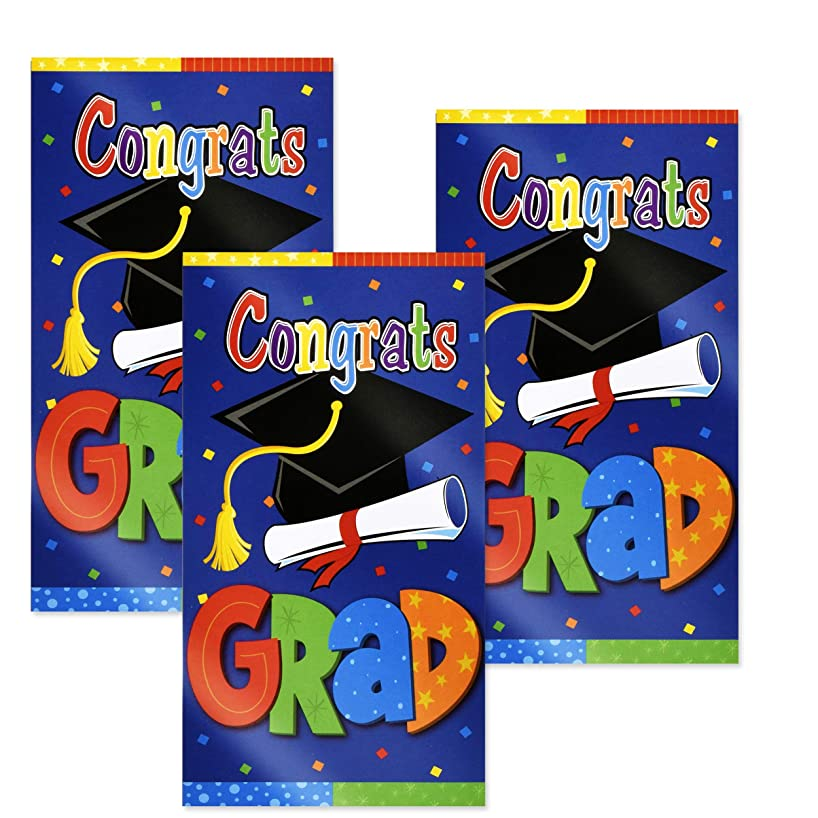 Graduation Congrats Grad Door Cover Banner 3 Pack Congratulations Graduate Doorway Entrance Sign Outdoor Party Supplies Decoration for College & High School Hanging Wall Poster by Gift Boutique