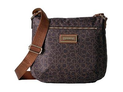 Calvin Klein Key Item Nylon Messenger H3JFE1CW (Brown/Khaki/Luggage) Cross Body Handbags