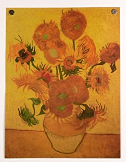 ゴッホ ひまわり ポスター レトロ風 フィンセント・ウィレム・ファン・ゴッホ 世界の名画 36cm×47cm MAG01