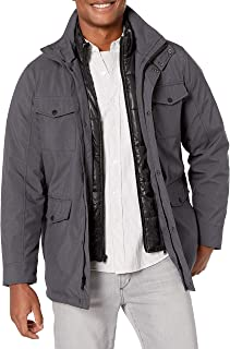 Kenneth Cole New York Men's Transitional Jacket with Bib