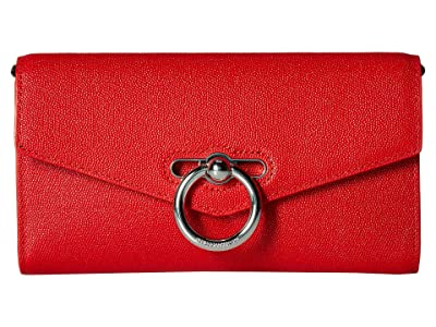 Rebecca Minkoff Jean Wallet On Chain (Tomato) Wallet Handbags